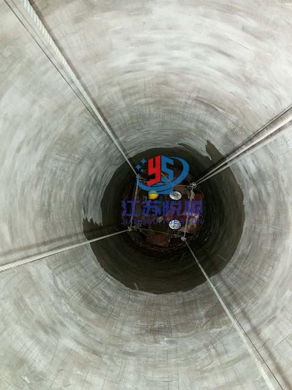烟囱内壁环氧树脂贴布防腐(图1)