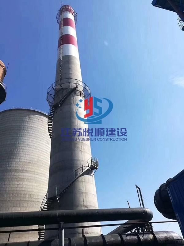 120米烟囱防腐改造施工措施