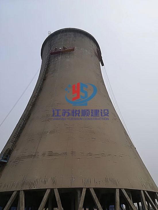 电厂冷却塔外壁修复施工方案