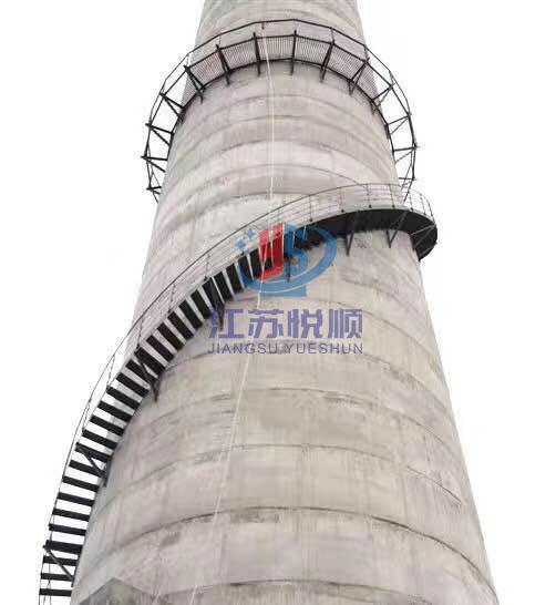 烟囱安装旋梯和监测平台