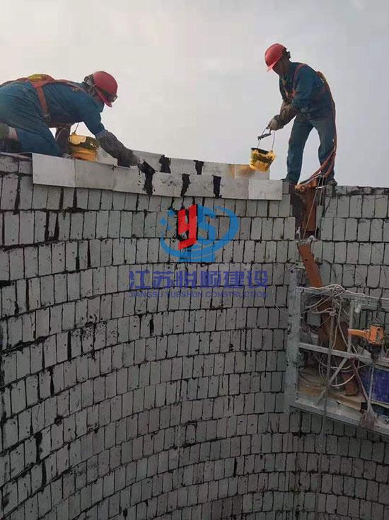 烟囱贴砖防腐